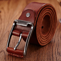2016 Luxury leather belt men genuine leather  belts brown color  fashion design men's buckle strap
