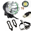 Waterproof 2in1 3-Modes CREE XM-L T6 5V USB LED Headlamp Headlight Bicycle Bike Light
