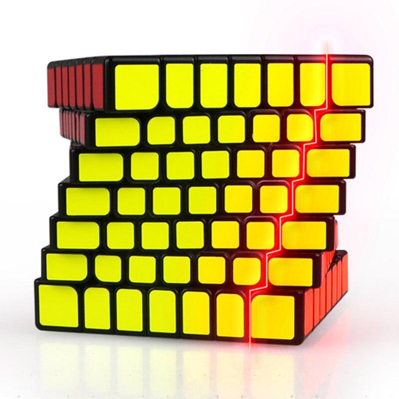 Qiyi x-man Design étincelle et étincelle M 7X7x7 Cube magnétique professionnel Mofangge 7x7 magique vitesse Cube torsion jouets éducatifs