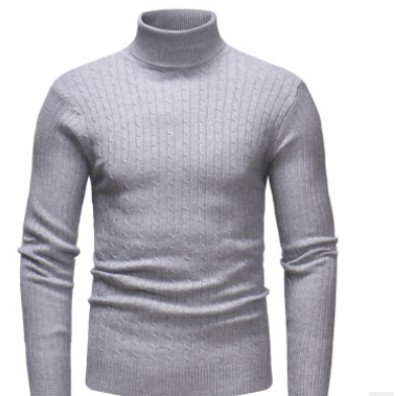 Sweater Winter High-Neck Pullover Turtleneck Slim-Fit Knitted Casual Men's Warm Tops