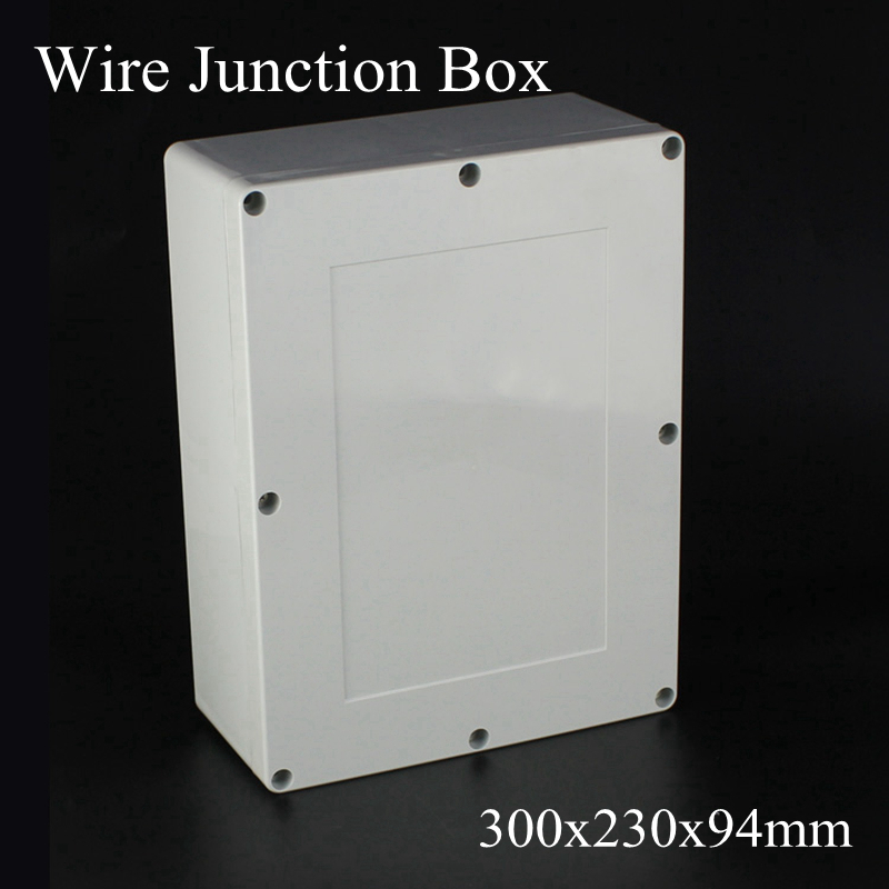 300x230x94mm ABS Plastic Electronic Project Waterpoof Wire Junction Box Cable Connector Sealed Enclosure Case 300*230*94mm300x230x94mm ABS Plastic Electronic Project Waterpoof Wire Junction Box Cable Connector Sealed Enclosure Case 300*230*94mm