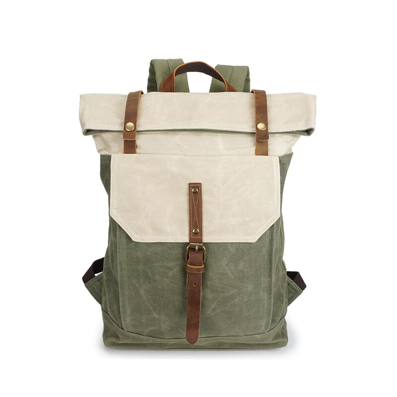 Men's canvas backpack retro travel canvas bag men's waterproof backpack