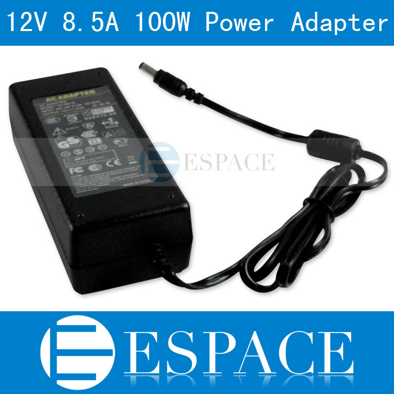 12V 8.5A 100W Power Supply AC 100-240V to DC Adapter For 3528 5050 Strip LED with US/EU plug free shipping free shipping czh618f 100c 100w 2u fm stereo radio transmitter exciter power adjustable from 0 to 100w