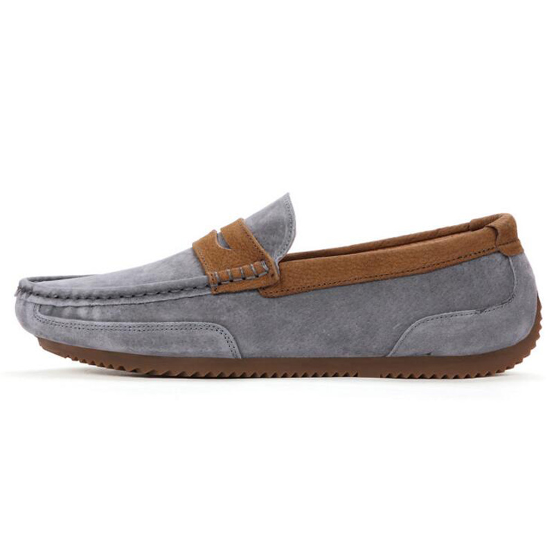 Tangnest Brand Men Suede Leather Loafers New 2017 British Style Men's Flats Man Comfortable Driving Shoes Man Moccasins XMR2522 2
