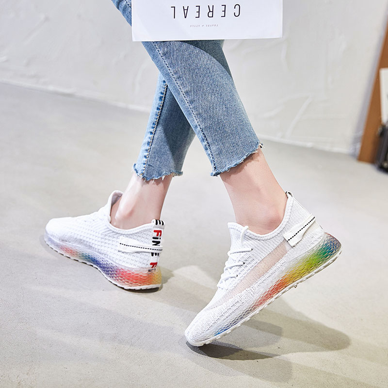 2019 Summer Women Sneakers Platform Jelly Shoes Lace Up Black Pink White Tennis Trainers Female Dad Shoes Size 35 40 in Women 39 s Vulcanize Shoes from Shoes