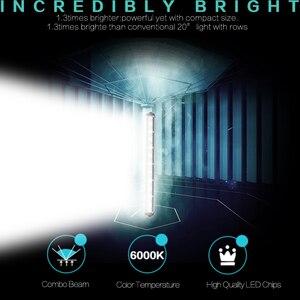 Image 5 - 13 inch 6000Lm 36 w רכב Led אור Barra בר עבודת ערפל אורות Offroad אופנוע זרקור לסירות ג יפ משאית רחוב מנורת SUV טרקטורונים