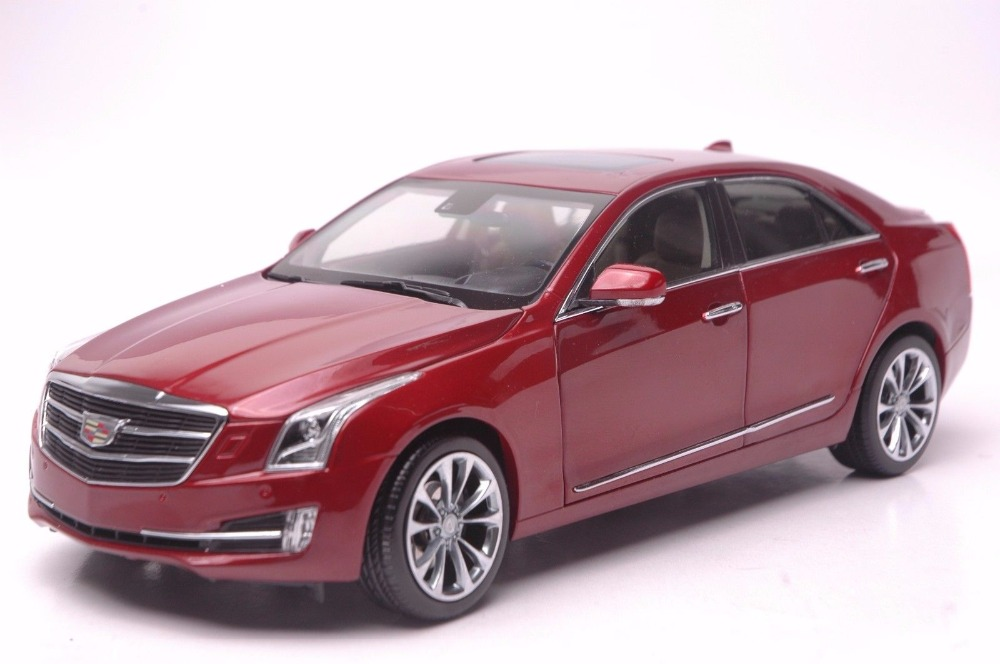 1:18 Diecast Model for GM Cadillac ATS-L 2016 Red Alloy Toy Car Miniature Collection Gifts ATS