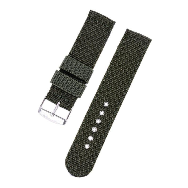 4 Farbe Militär Armee Uhrenarmband Nylon Stoff Canva Armbanduhr Band - Uhrenzubehör - Foto 3