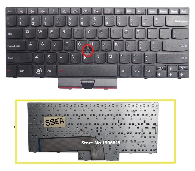 SSEA New US Keyboard For LENOVO IBM ThinkPad E40 E50 Edge 14 15 laptop keyboard with mouse rod Can't be used