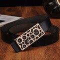 Venta caliente 2016 de la Mujer Colorida Cinturones Correa de Cuero de Vaca Mujer famosa Marca Cinturón Cintura Cinturón Elástico Para Las Mujeres Femeninas Para pantalones vaqueros