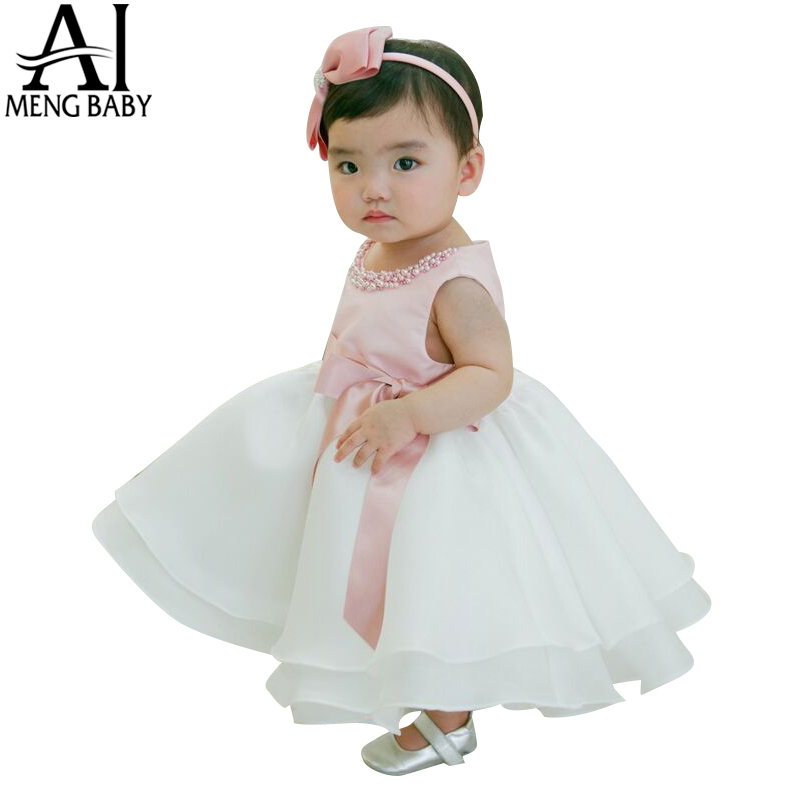 Toddler Girl Baptism Dress Baby Girl 1 Year Birthday Dresses For Girls Kids Wedding Party Wear Newborn Baby Christening Gowns 2T