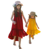 Children S Clothing Girls Dress Summer Beach Style Chiffon Bohemian Party Backless Dresses Vintage Toddler Kids
