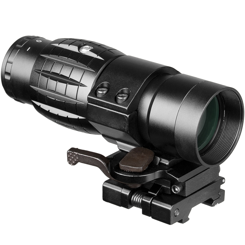 Optic Sight 3X Magnifier Compact Hunting Sights with Flip Up cover Fit 20mm Rifle Gun Rail MountOptic Sight 3X Magnifier Compact Hunting Sights with Flip Up cover Fit 20mm Rifle Gun Rail Mount