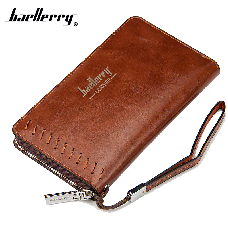 купить Baellerry Phone Long Clutch Handy Women Men Wallet Male Female Coin Purse Cuzdan For Baellery Money Bag Wristlet Walet Kashelek по цене 610.62 рублей