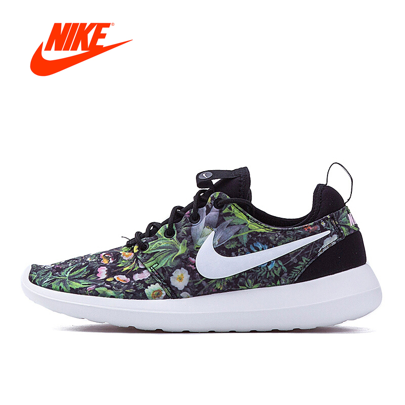 Original New Arrival Official NIKE ROSHE TWO PRINT Women's Low Top Running Shoes Sneakers