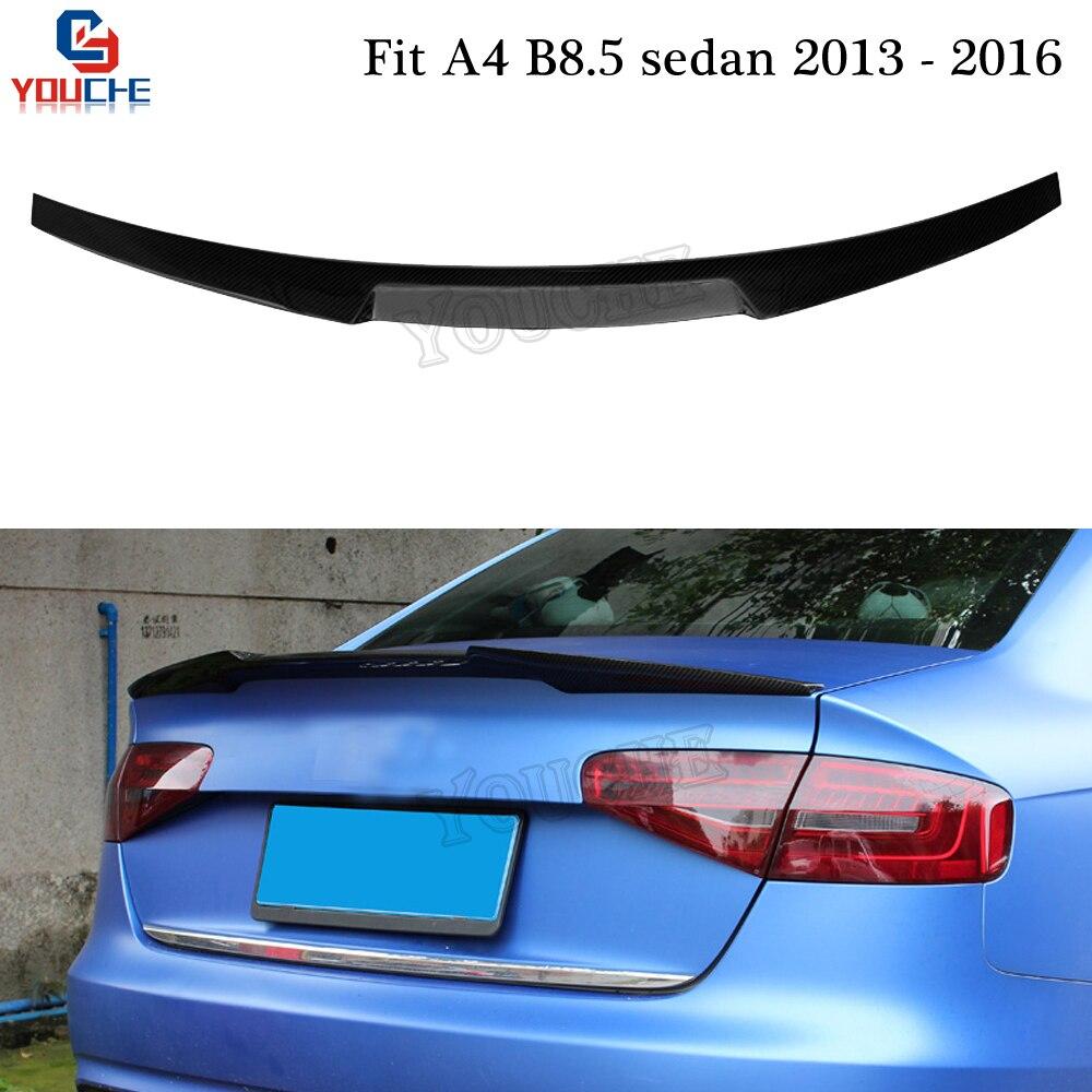 Carbon Fiber Trunk Spoiler Lip Boot Lid for 2009-2012 Audi S4 B8 Sedan Type D