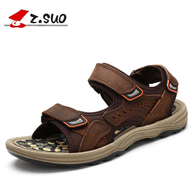 2013 new fashion genuine leather mens sandals summer