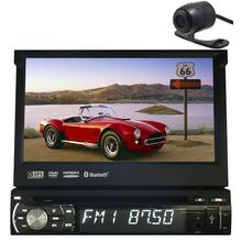 1Din 7″ Detachable Car Audio DVD Player GPS Navigation Stereo Car GPS Navigation Central Multimedia RadioBluetooth+Free camera
