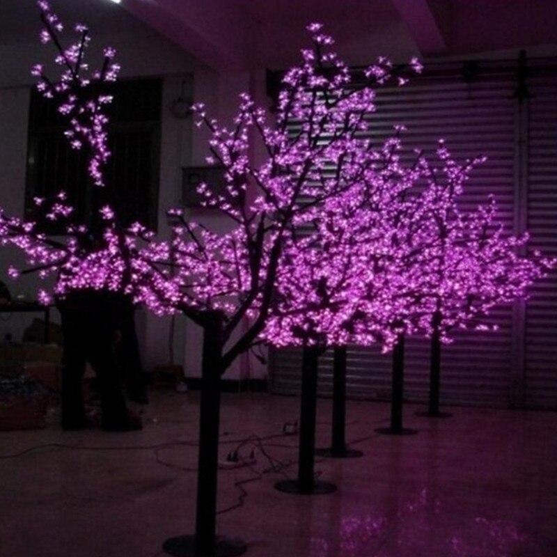 6 Цвет светодиодный цветущее дерево вишни светильник светодиодный светильник в виде искусственного дерева 648 шт. светодиодный лампы 1,8 m Высота 110/220VAC Waterprood IP65