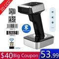 Symcode MJ1900 Bluetooth 2,4 ГГц беспроводной 2D сканер штрих-кодов экран мобильный платеж 1D QR 2D считыватель штрих-кодов