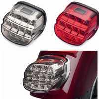 Für Harley Motorrad LED Licht Rauch Schwanz Licht 12v Kennzeichen Hinten Lampe Für Harley Dyna Super Wide Glide low Rider