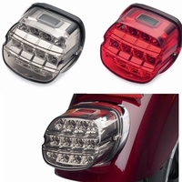 For Harley Motorcycle LED Light Smoke Tail Light 12v License Plate Rear Lamp For Harley Dyna Super Wide Glide Low Rider