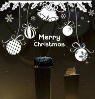 2017 Natale Decalcomania Della Parete Del Vinile Buon Natale Murale Wall Art Sticker Negozio di Abbigliamento Negozio Finestra Decorativo Decoraton