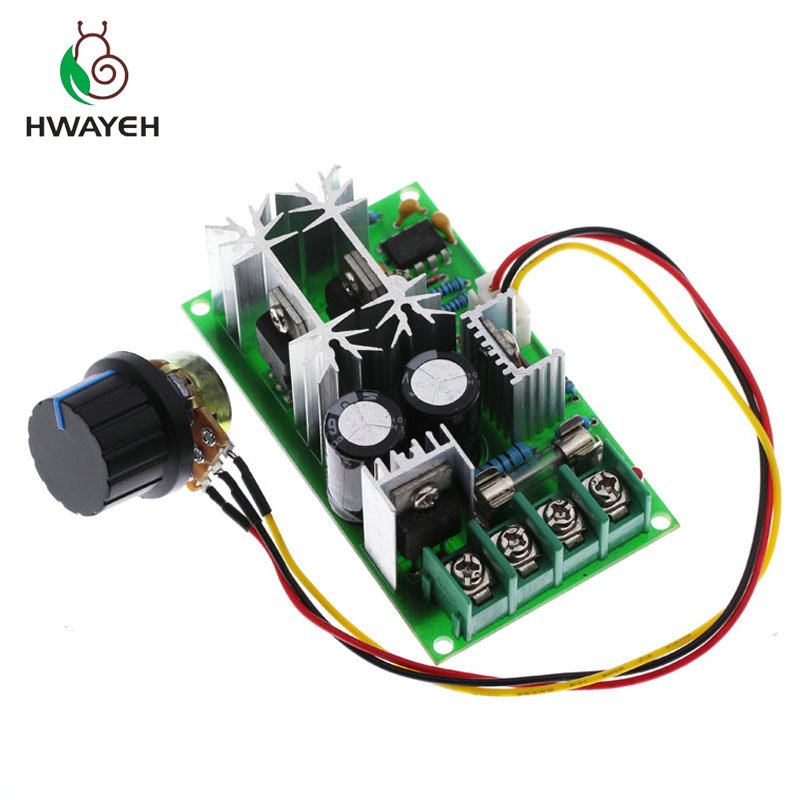 DC10-60V 12V 24V Motor Speed Control Regulator PWM Motor Speed Controller Switch 20A Current Regulator High Power Drive Module