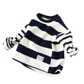 Wiosna jesień dzieci t-shirty dla chłopców dziewcząt z długim rękawem w paski t-shirty Casual chłopców ubrania dla 2-7Y BC102 tanie i dobre opinie Topy Tees NoEnName_Null Pełna spandex COTTON Unisex O-neck kids stripe t shirt REGULAR Pasuje mniejszy niż zwykle proszę sprawdzić ten sklep jest dobór informacji