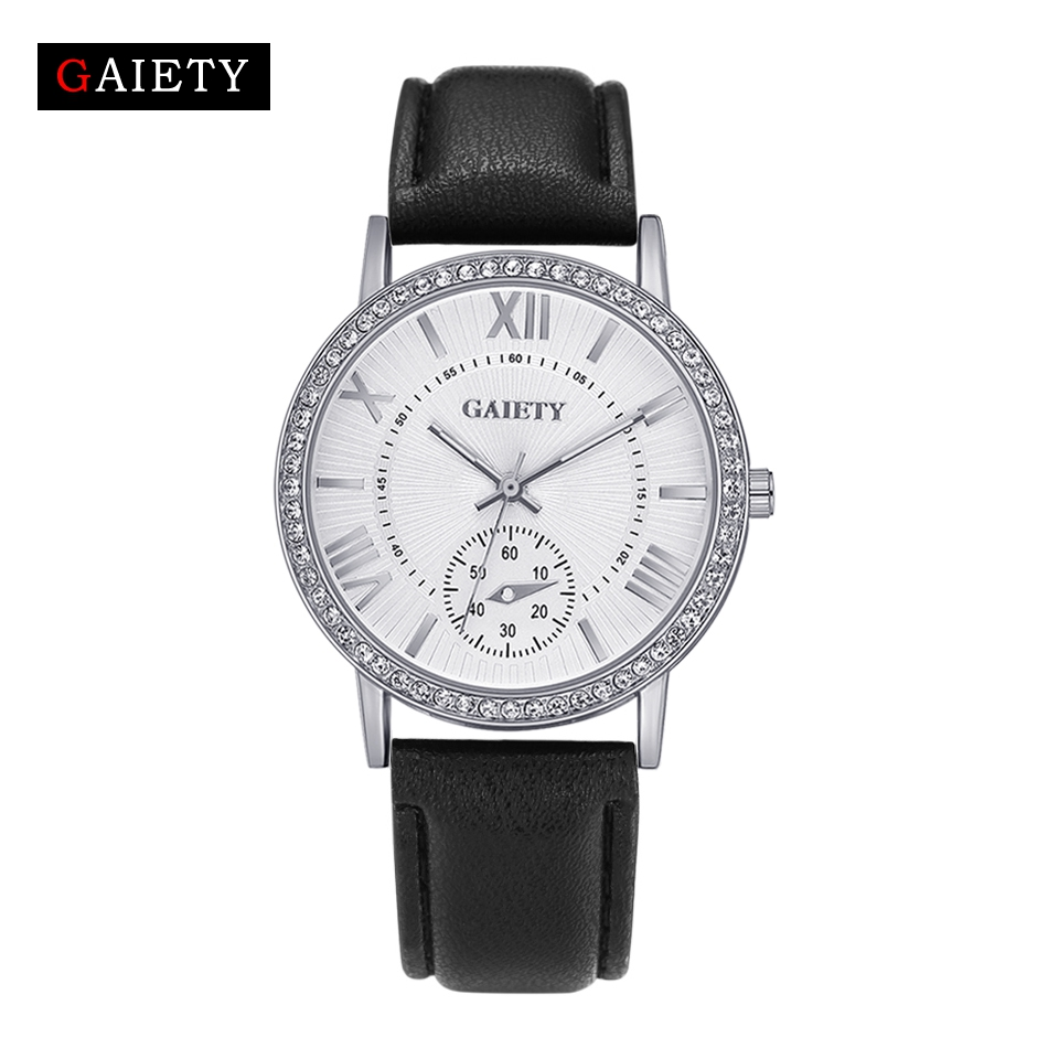 GAIETY Brand 2017 New Silver Women Bracelet Watch Fashion Casual Leather Quartz Wristwatch Women Dress Watches Gift Clock G061 brand new 2016 fashion ladies casual watches rhinestone bracelet watch women elegant quartz wristwatch silver clock