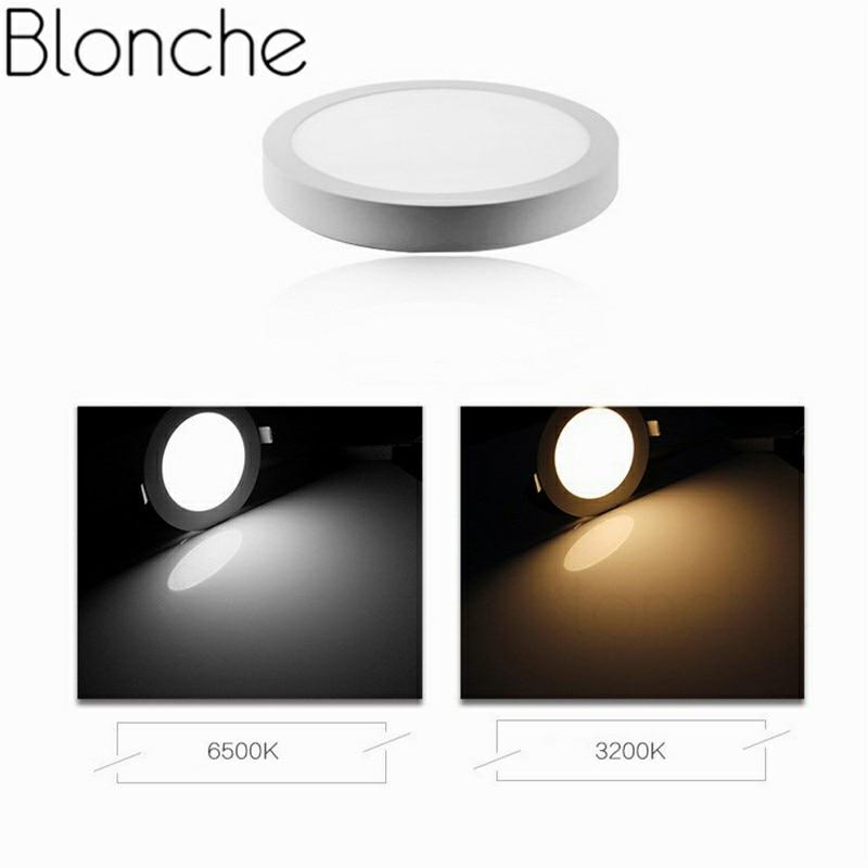 Blonche Led Panel Light AC85~265V Modern Ceiling Lamp Round/Square 6W/12W/18W For Living Room Bathroom Bedroom Decor Lighting