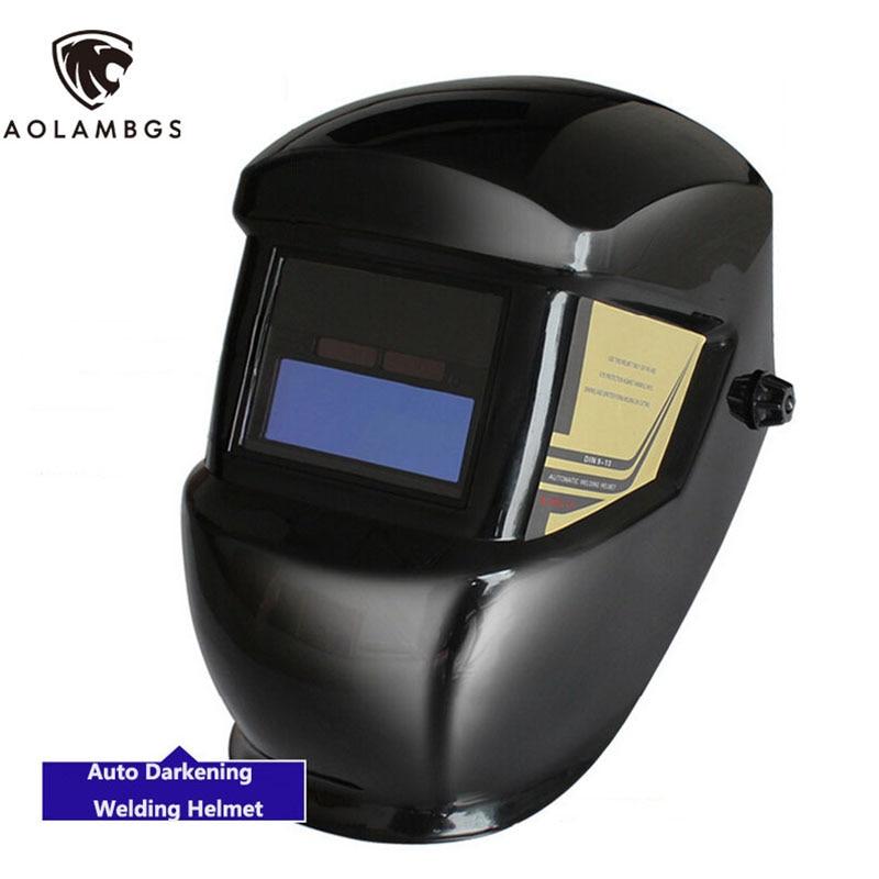 ФОТО Solar Auto Darkening Welding Helmet Welders Protective Safety Helmet TIG MIG MMA  Welding Mask Solar No Batteries