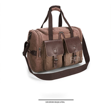 Mealivos Soft Canvas Men Travel Bags Carry On Luggage