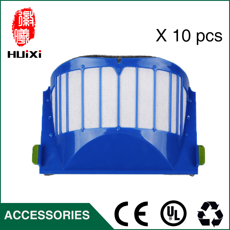 10pcs Replacement Blue HEPA Filter Screen to Filter Air for 527E 528 529 56708 601 620 630 650 Robot Vacuum Cleaner Parts 2pcs vacuum cleaner parts replacement filter screen for philips robot fc8820 fc8810 hepa filter free shipping