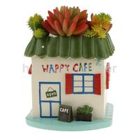 Смола счастливый Cafe кактусы сочные завод цветник пот Box сад плантатор