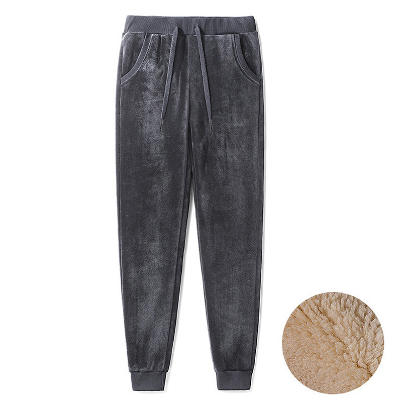 Largo Pantalones Pantalon Black Lana Las Corderos gray Terciopelo Encaje Espesar Invierno Algodón C5151 Mujeres De Oro Cálido Mujer Oq7gwxA