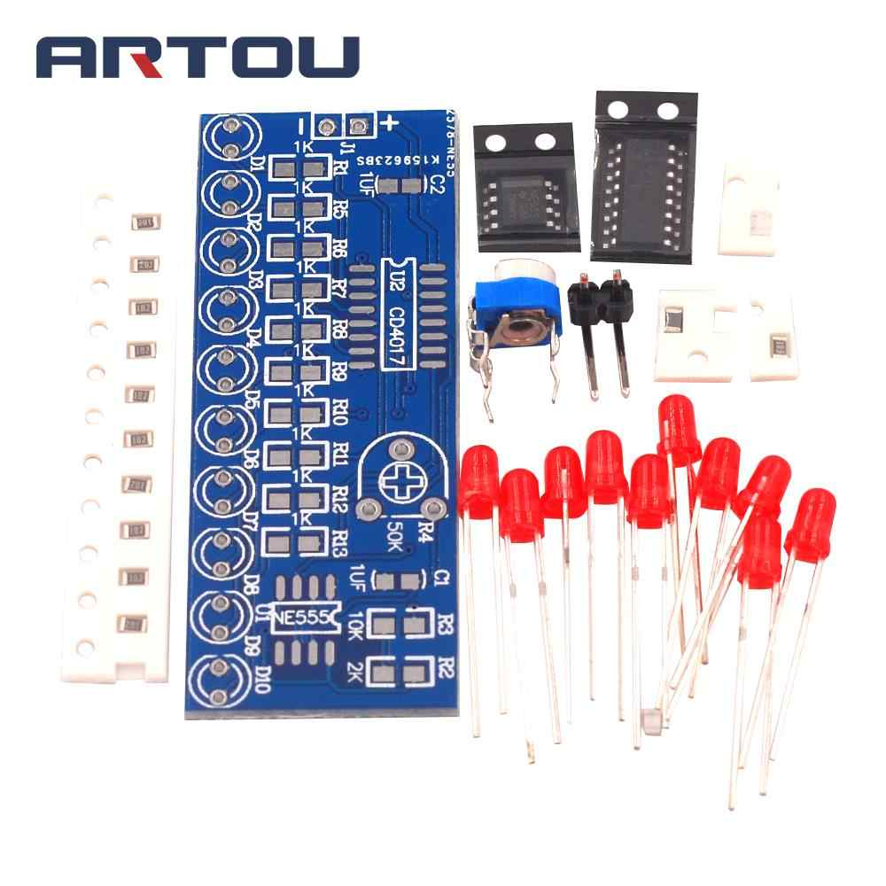 Smart Elektronica Kits NE555 + CD4017 Licht Water Stroomt Licht LED Module DIY Kit