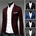 Pls comprarlo! de Alta calidad y barato de Los Hombres traje chaqueta de Primavera Otoño Hombres Casual Blazer un botón de la Chaqueta Formal