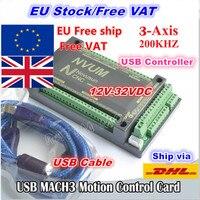 [EU Free VAT] 3 Axis 200KHZ USB Mach3 NVUM CNC Controller Motion Control Card for Stepper Motor Servo motor