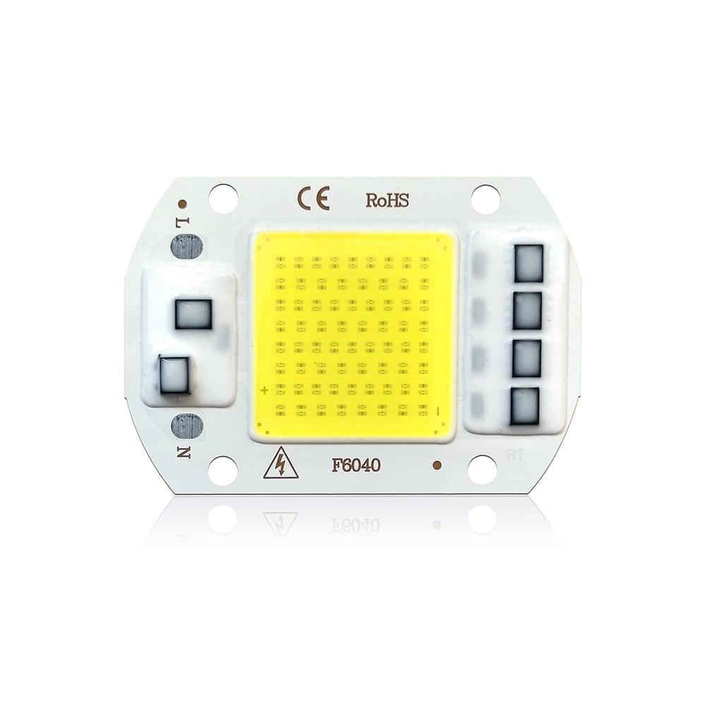 COB LED Chip 50W 220V 30W 20W 10W 3W Smart IC No Need Driver LED Bulb Lamp For DIY Floodlight Spotlight in Light Beads from Lights Lighting