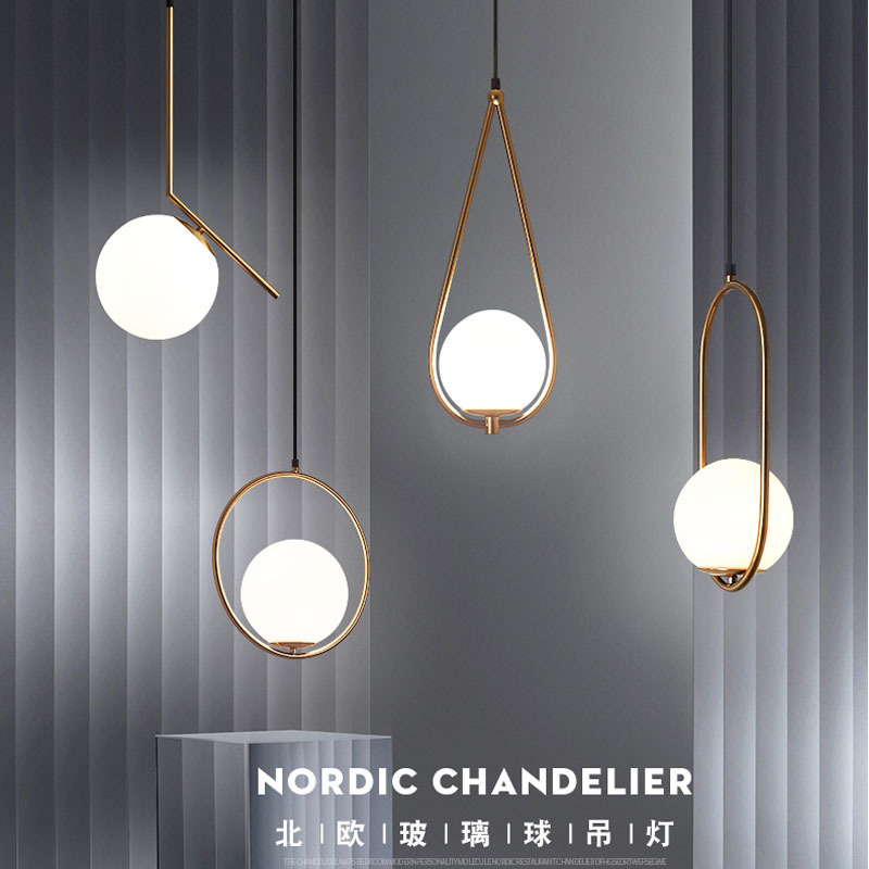 postmodern restaurant chandelier glass ball bar of bedroom the head of a bed clothing store led single head droplight|Pendant Lights| |  - title=