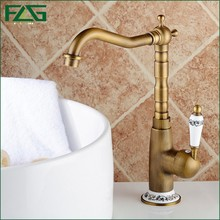 flg cuenca del grifo monomando de bao antiguo grifo de lavabo antiguo grifo de la cocina blanco pintado porcelana flor fregadero grifo m