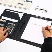 A4 кожаная папка для документов Многофункциональный школьный офисный органайзер канцелярские принадлежности менеджер блокноты портфель HJW315