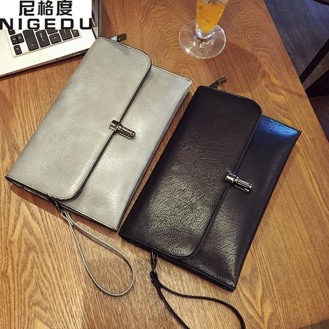 2017 Retro Women's Clutch  Purse Lady Messenger Crossbody Bag PU Leather Women Shoulder Bag Ladies Clutches Handbags bolsas