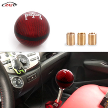 RASTP-5/6 Speed M8X1.25/M10X1.5/M10X1.25 Mugen Red Carbon Fiber Gear Shift Knob For Honda Civic Acura RS-SFN051
