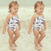Girls Kids Toddler Cute Lovely New  Bathing Suit Swimwear Bikini Tankini Swimsuit Swimming Costume