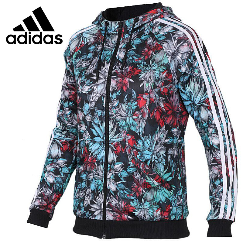 Original New Arrival 2018 Adidas NEO Label VDAY ZIP HOOD Women's jacket Hooded Sportswear new arrival latex fetish hood sexy rubber girls ponytail hood back zip including hair hood only