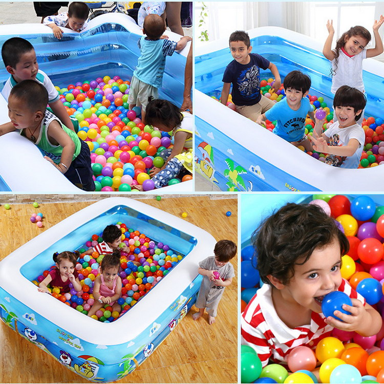 120x90x40cm Baby Swimming Pool Safety Large Plastic Swimming Pools Square Inflatable Swimming