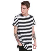 New 2017 Summer Fashion Brand Men T Shirt Solid Cotton O Neck Slim Fit Holes Male