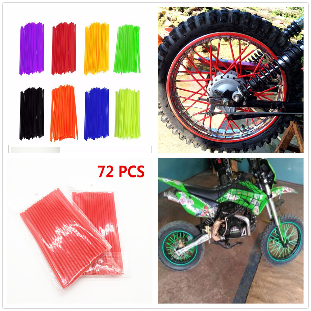 Motorcycle Pitbike dirtbike Wheel Spoke Cover Rim Protector Wrap for SUZUKI DRZ400E DRZ400S SM DR250R DJEBEL250XC image
